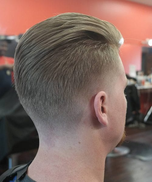 A modern slick back hairstyle for thick hair