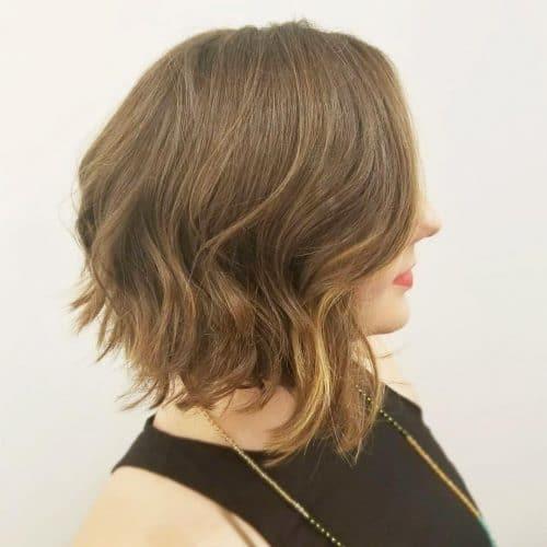 Modern Wavy Asymmetrical Bob hairstyle