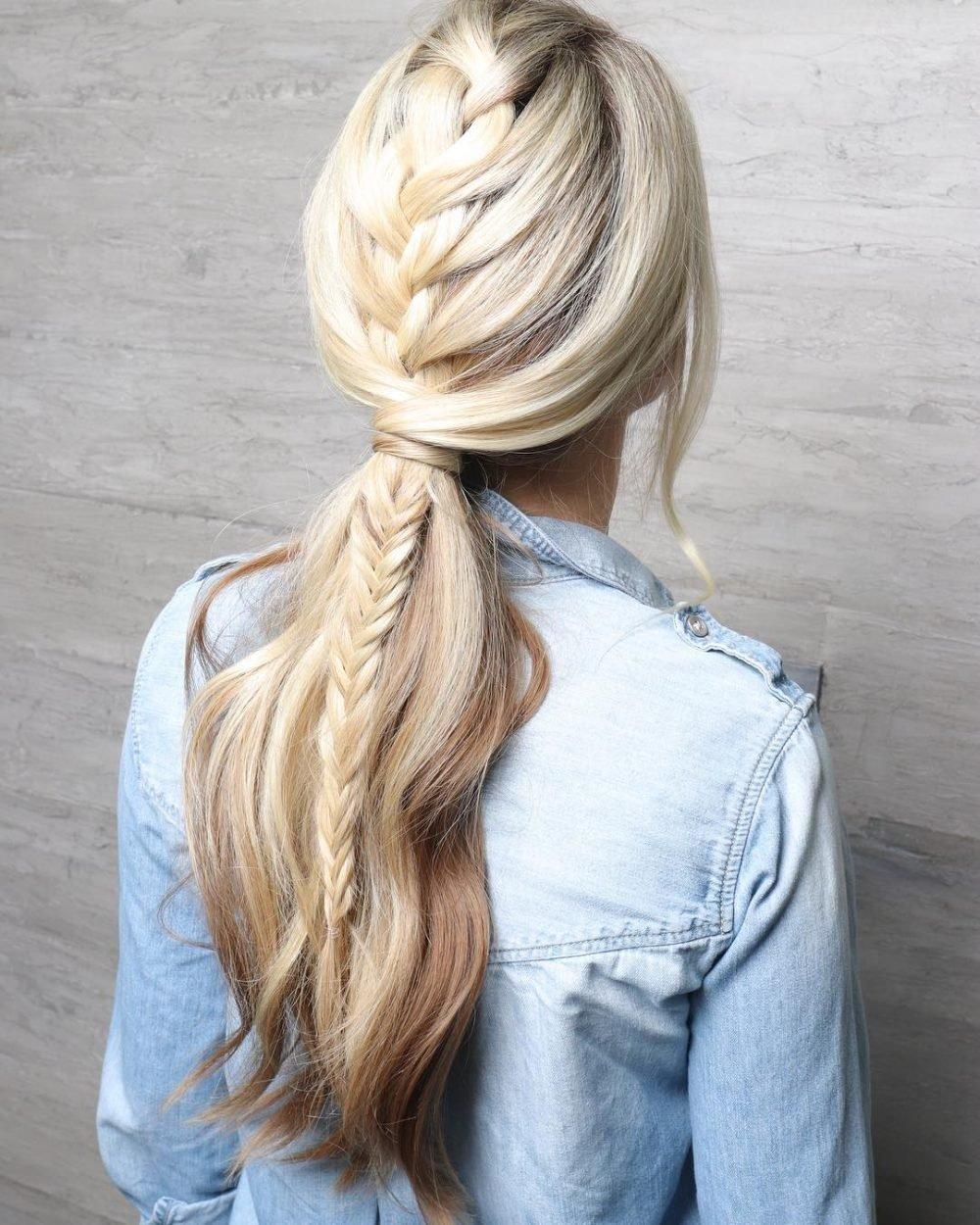 Modernized Dutch Braid hairstyle