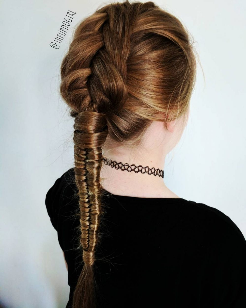 Modernized French Braid hairstyle
