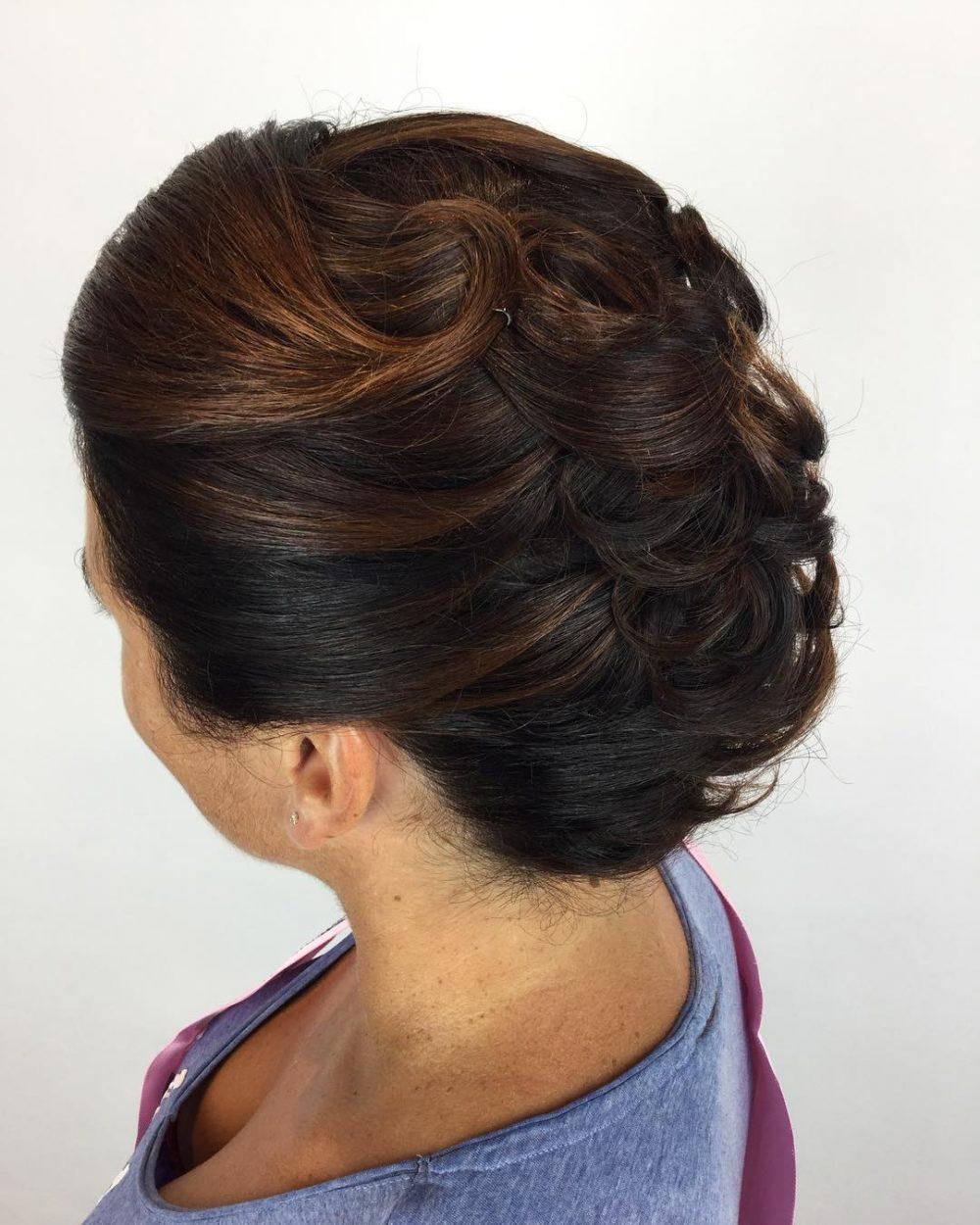 Modernized French Twist hairstyle