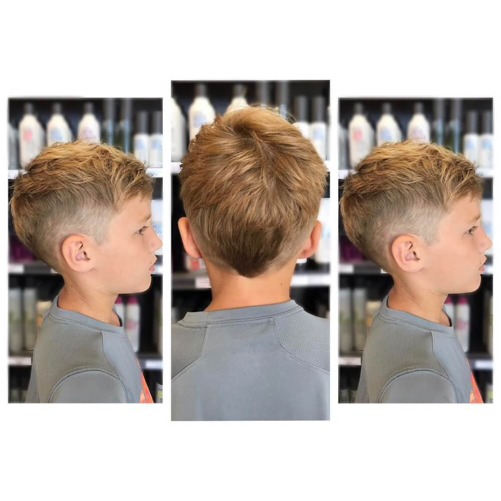 A modern Mohawk boys haircut