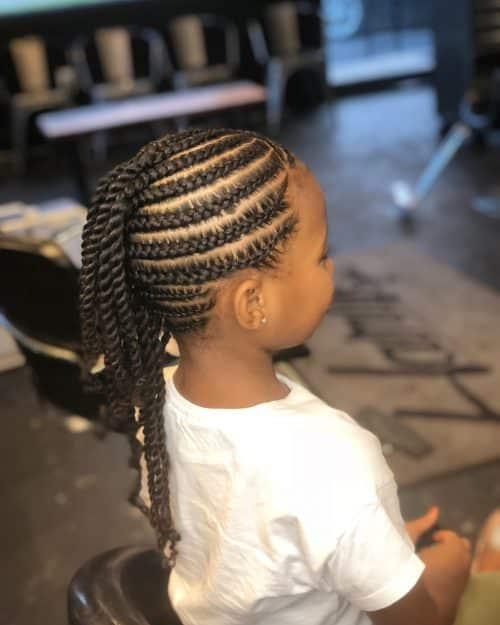 mohawk hairstyles with braids for kids