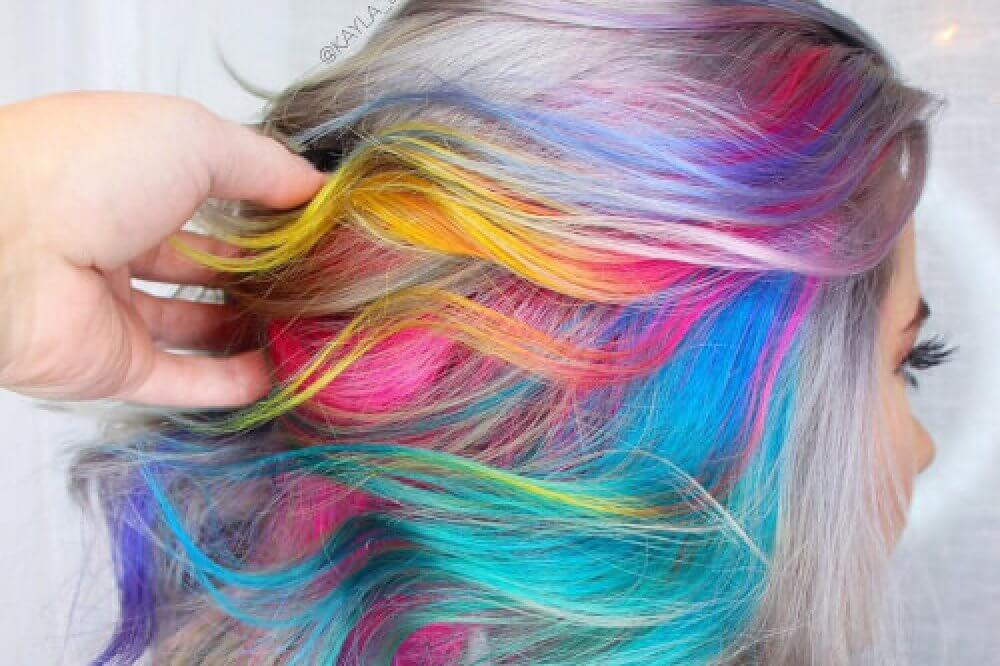 Hair Styles For Short Hair With Color: 28 Cool Rainbow Hair Color Ideas Trending For 2018