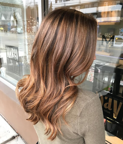 more natural rose gold hair color