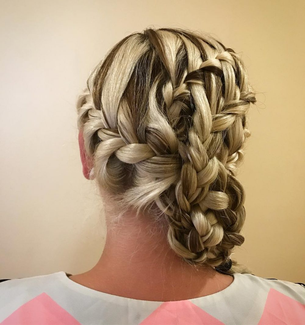 Multi-Braided Updo hairstyle