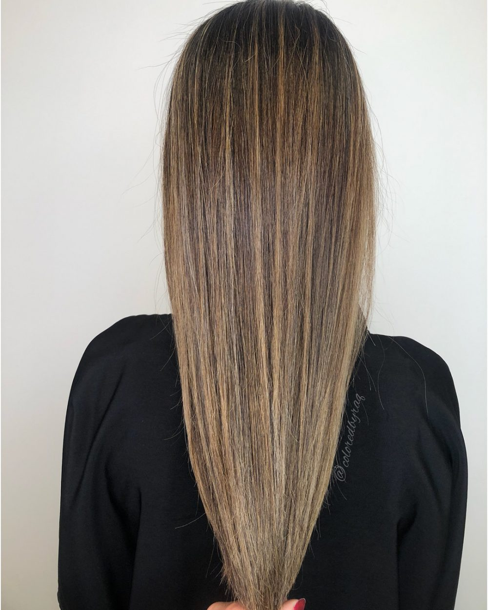 Multi-Technique Brunette hairstyle