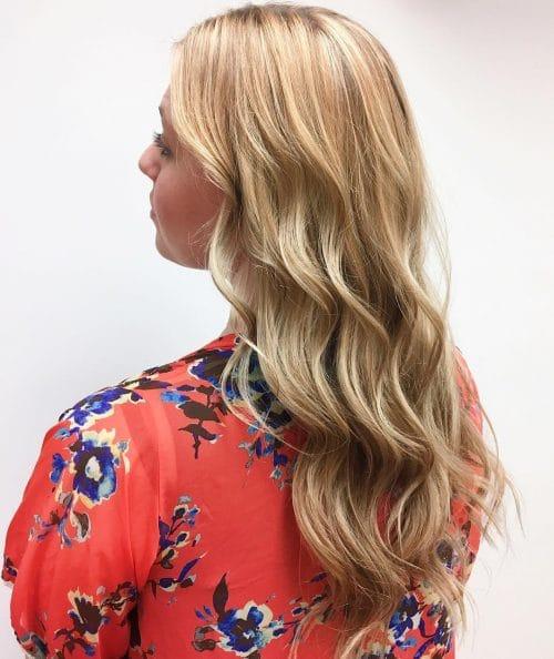 Dark Buttery Blonde Hair with Dark Lowlights