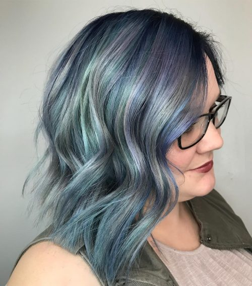 Picture of muted pastel a creative color hairstyle