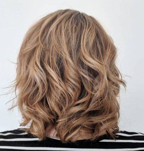 Picture of a natural blonde dark hair