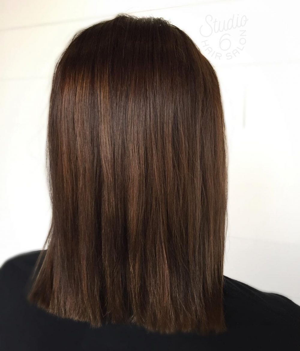 Natural Chocolate Brown with Subtle Dimension hairstyle