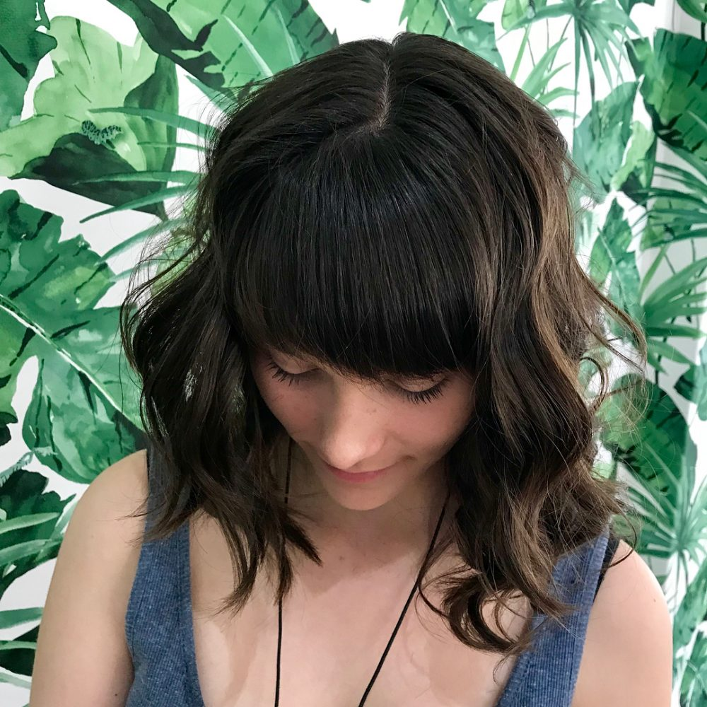 Natural Choppy Lob hairstyle