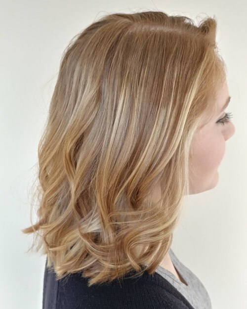 Natural Strawberry Balayage hairstyle