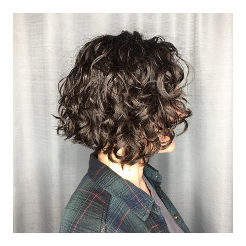 A short bob for naturally curly hair for women wit