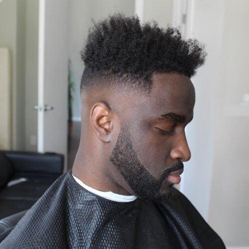 High Top para cabello naturalmente rizado con calvicie