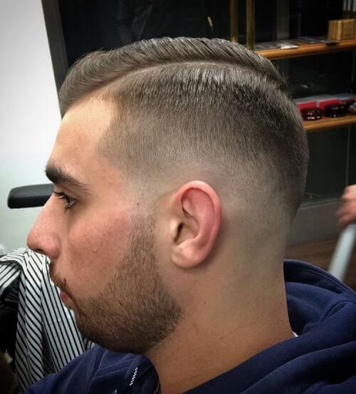 neat classic mens haircut