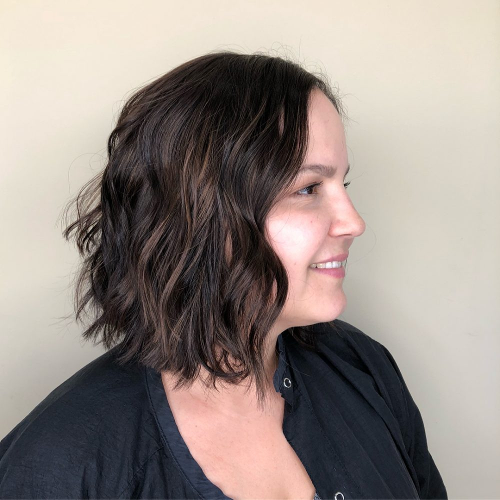Chic Dark Chocolate Brown Layered Bob
