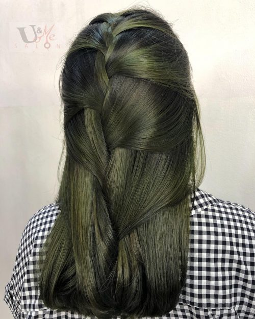 Olive Green Hair Color