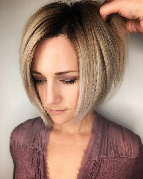 Chin Length Hair with Ashy Blonde Ombre
