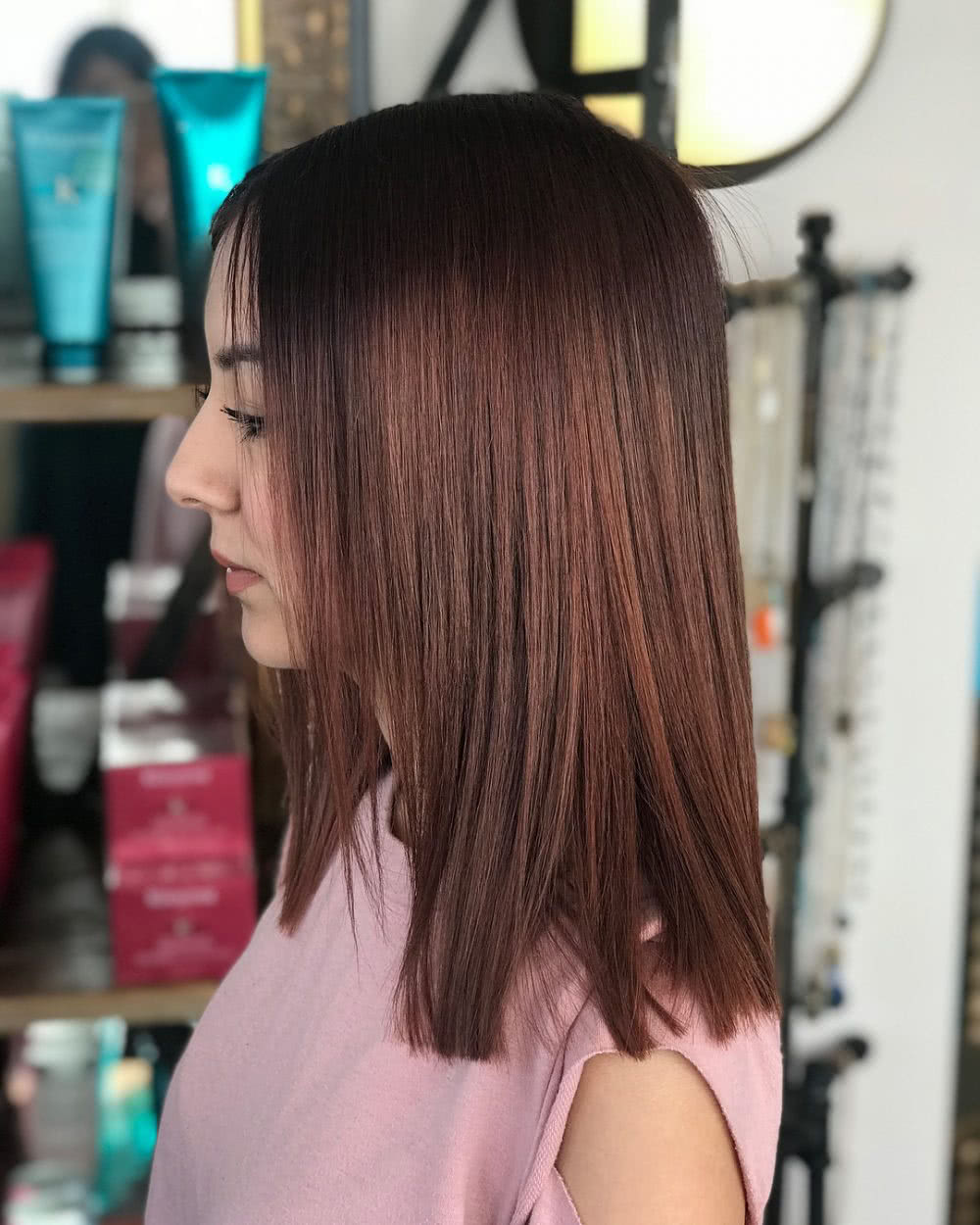 One-Length Lob hairstyle