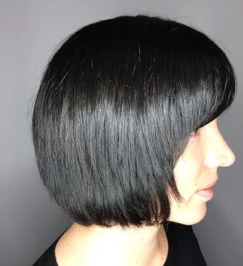 one length short bob haircut