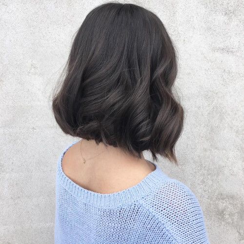 one length textured bob haircut