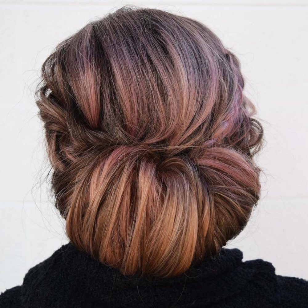 Organically Textured Chignon hairstyle