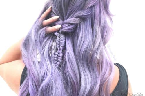 Pastel purple hair colors