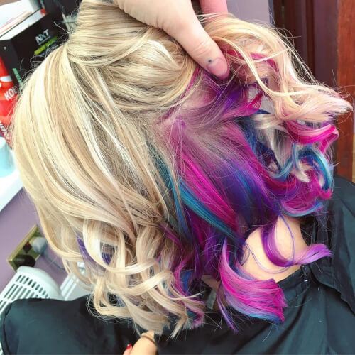 28 Cool Rainbow Hair Color Ideas Trending For 2018