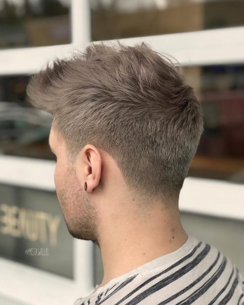 Picture of a perfect blend men's taper fade