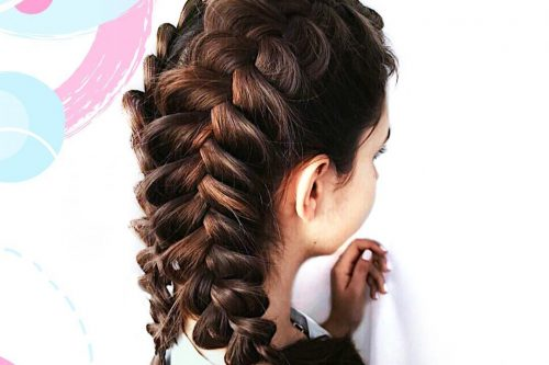 Picture of a perfect double French braids