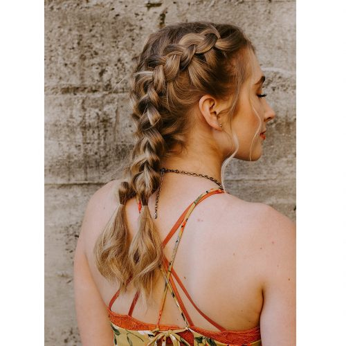 Picture of a perfect spring French braid