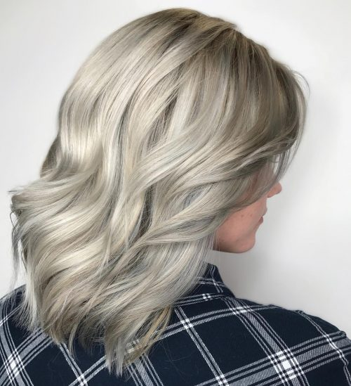 Picture of a perfectly platinum blonde color