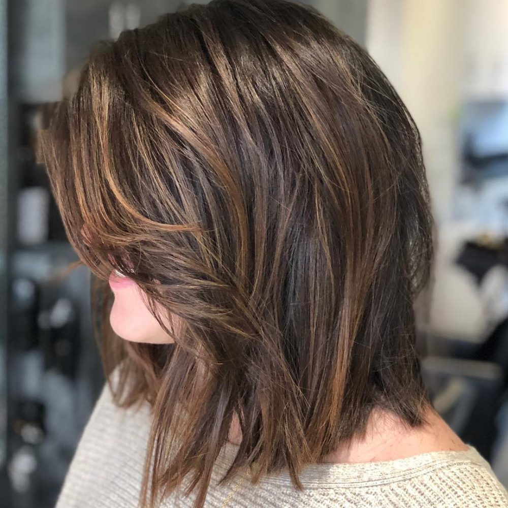 Perfectly Textured Lob hairstyle