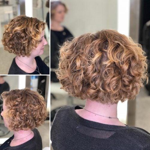 A short permed bob haircut