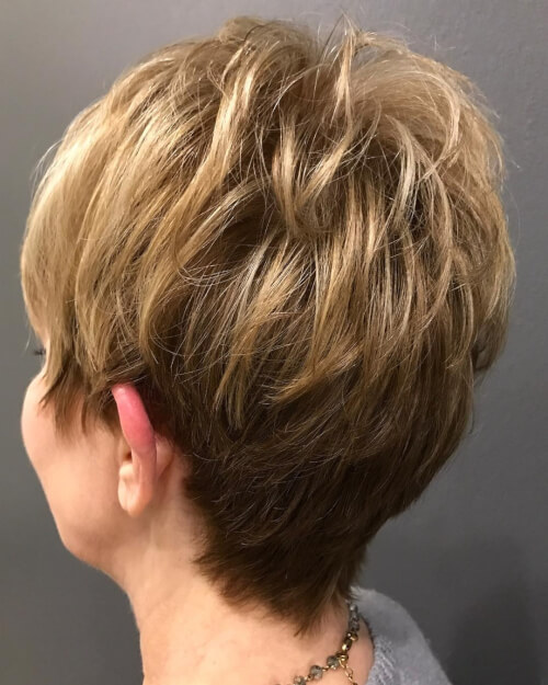 piecey pixie cut on woman over 50
