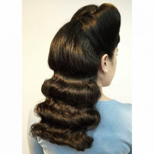 Picture of a pin-up princess vintage hairstyle
