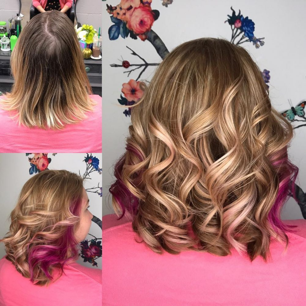 Pink-a-boo hairstyle