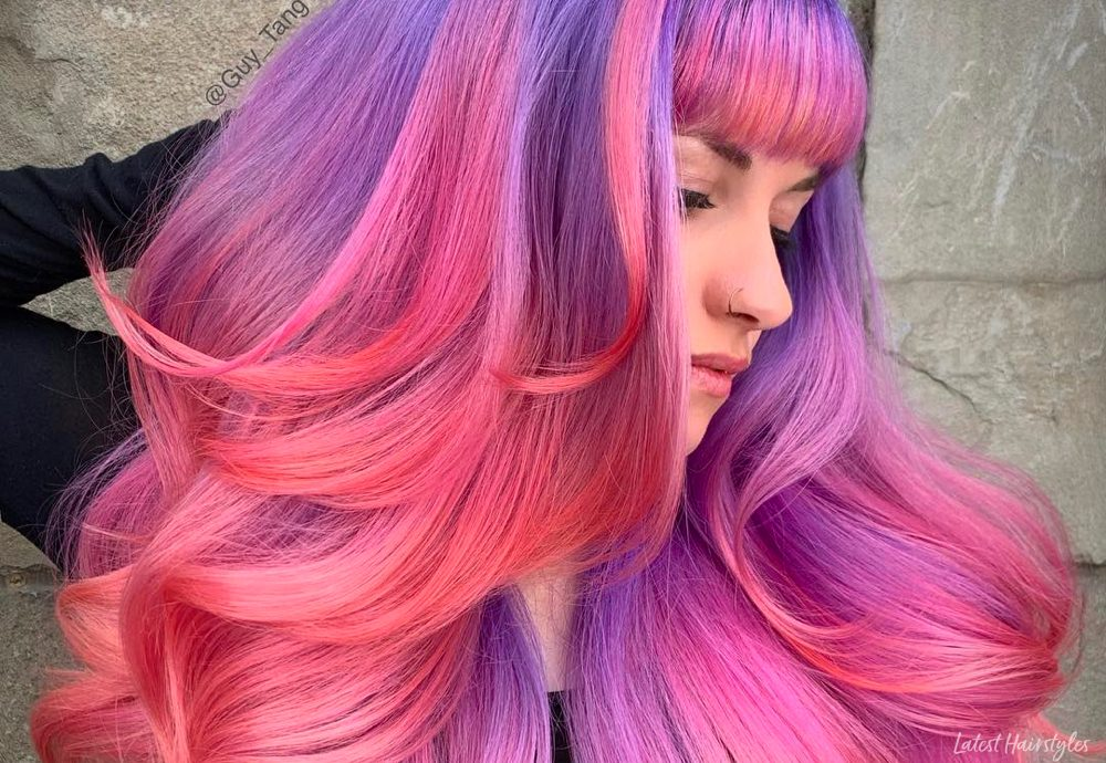 15 Pink And Purple Hair Color Ideas Trending Right Now,Best Places To Travel In November Outside The Us