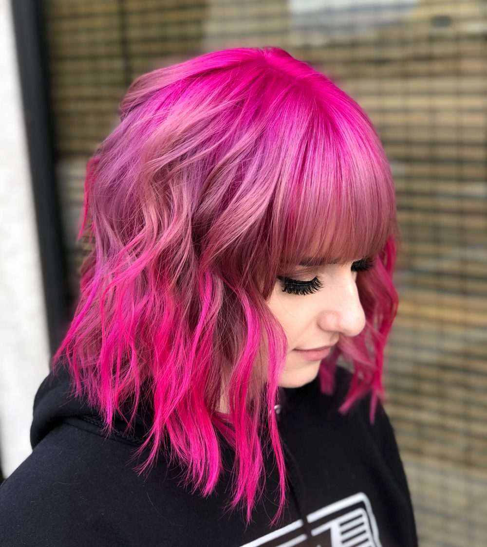 Pink Lob Dreams hairstyle