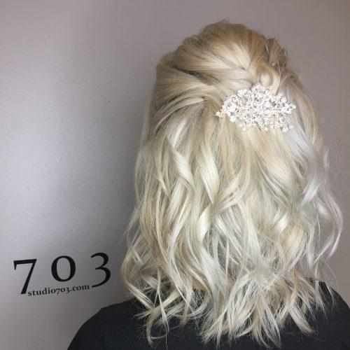 Picture of a pinned for a perfect party shoulder length hair