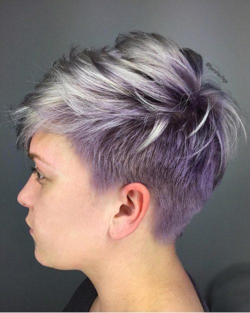 Пикси Cut Фиолетовый Balayage