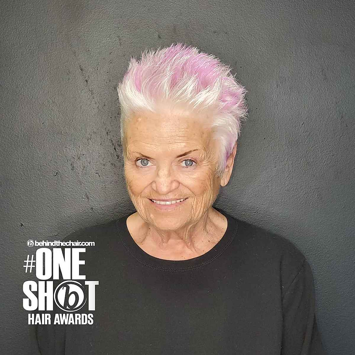 Corte de pelo Pixie para mujeres mayores de 60 años
