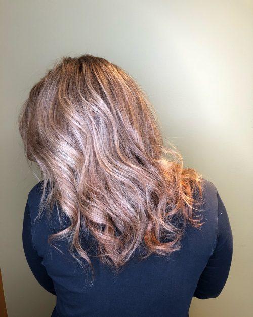 Platinum auburn hair