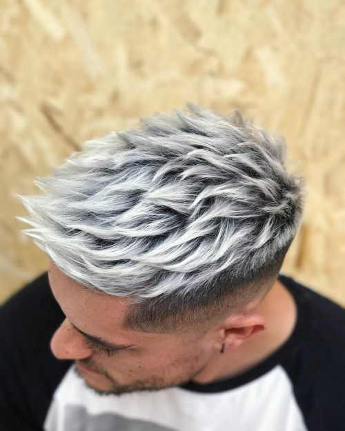A fun platinum hair color