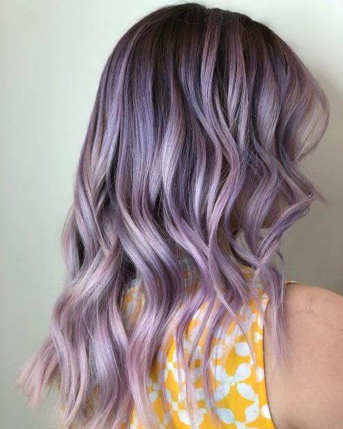 Platinum Lavender Hair Color