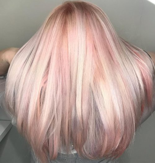 Picture of a beautiful platinum pink hair