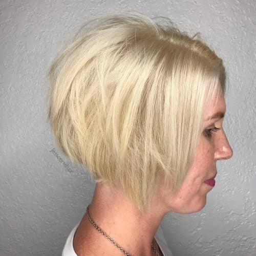 Platinum Blonde Textured Pixie hairstyle