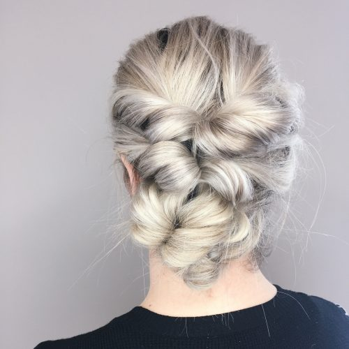 Picture of a playful simple updo