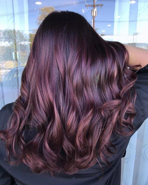 Auburn plumb hair color
